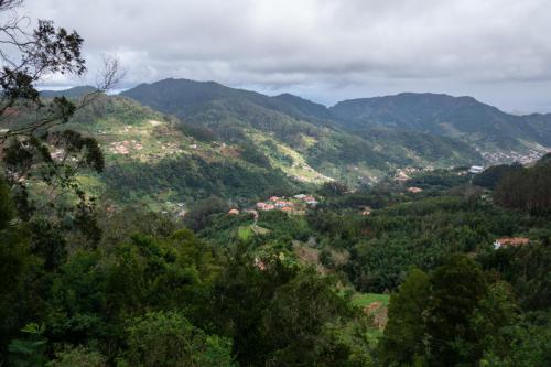 Uitzicht vanaf het park in Santo da Serra