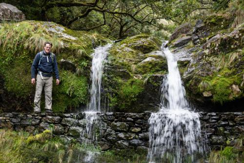 Watervallen langs de Levada do Furado